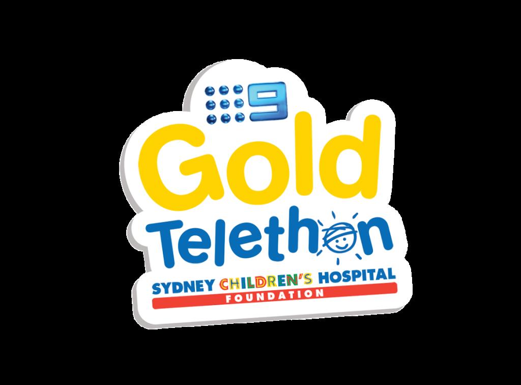 Gold telethon logo