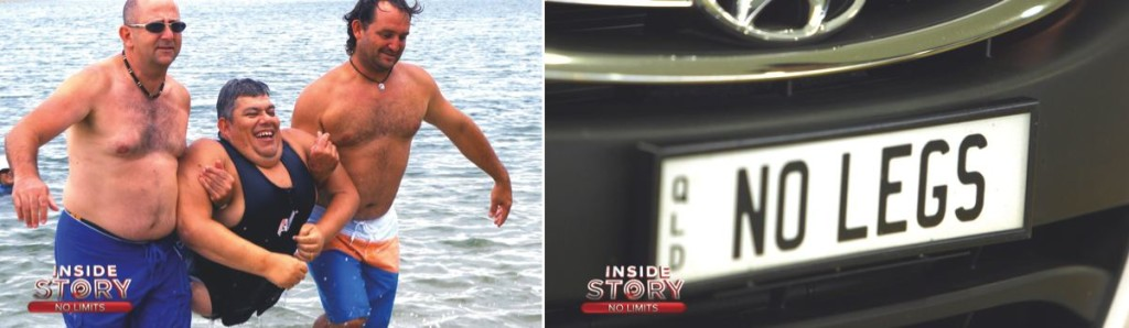 John Coutis, whose life with spina bifida is the subject of the first episode of Inside Story's third season. Right: Coutis' Car