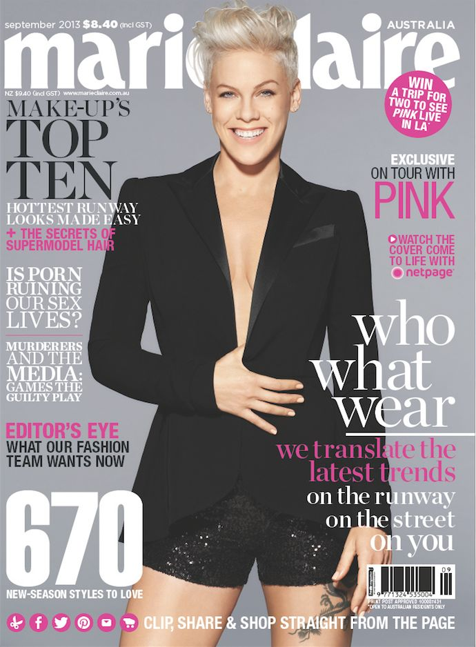 marie claire - P!NK