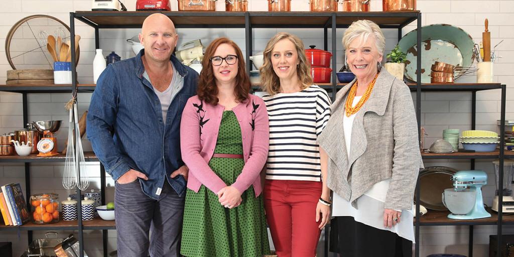 The Great Australian Bake Off Judges Matt Moran, Mel Buttle, Claire Hooper and Maggie Beer