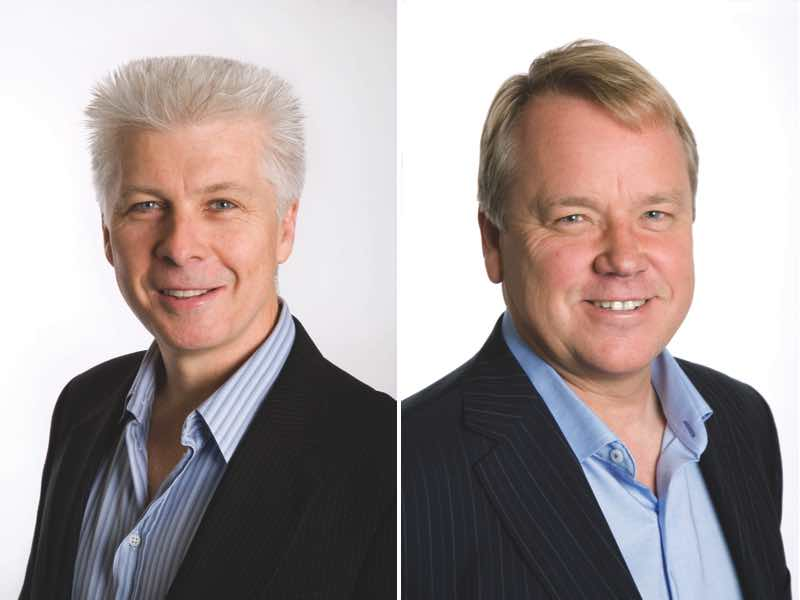 John Luscombe (L) and Mikael Borglund (R)