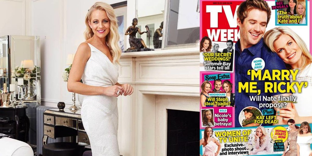 Carrie Bickmore and TV Week 1200x600