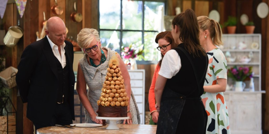 Chefs Matt Moran and Maggie Beer on The Great Australian Bake Off