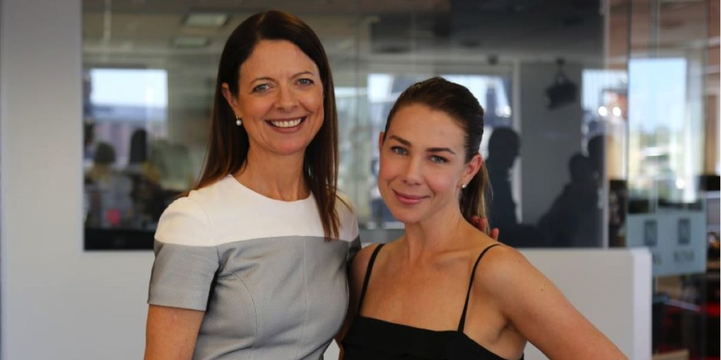 Nova Entertainment CEO Cathy O'Connor with drive host Kate Ritchie
