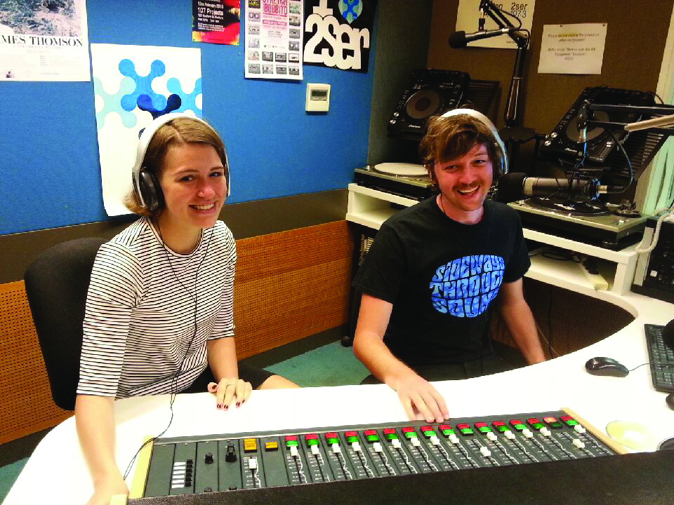 2Ser announcers Mitch and Tess