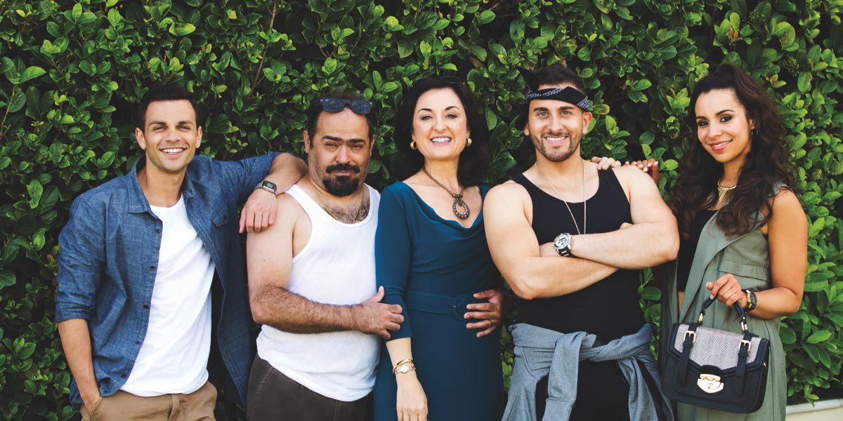 Family: Elias Habib (Tyler De Nawi), Fou Fou Habib (Michael Denkha), Mariam (Camilla Ah Kin), Toufic Habib (Sam Alhaje), and Layla Habib (Kat Hoyos)