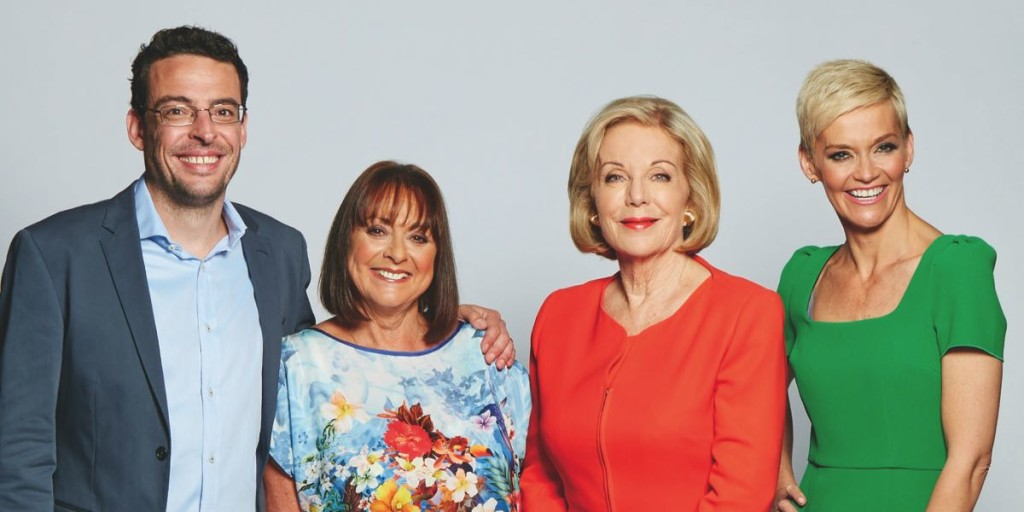 Joe Hildebrand, Denise Drysdale, Ita Buttrose and Jessica Rowe