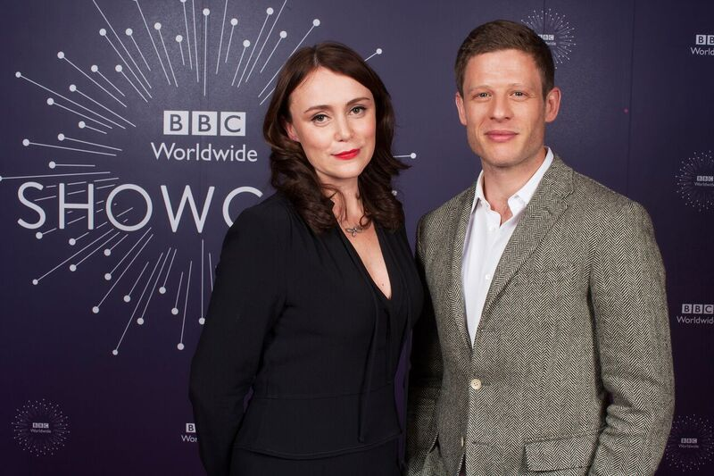 The Durrells' leading actress Keeley Hawes with James Norton, star of War and Peace and Happy Valle