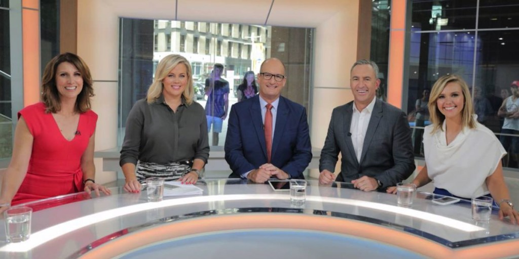 Natalie Barr, Samantha Armytage, David Koch, Mark Beretta and Edwina Bartholomew