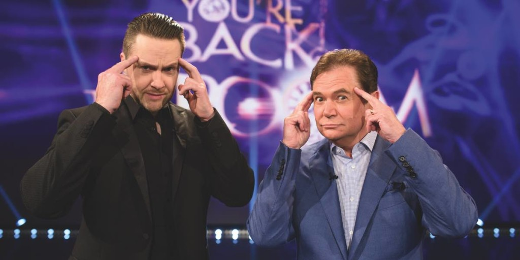 You're Back In The Room host Daryl Somers and his hypnotist Keith Barry