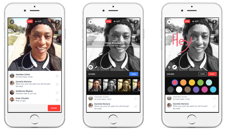 Facebook's live filter tool