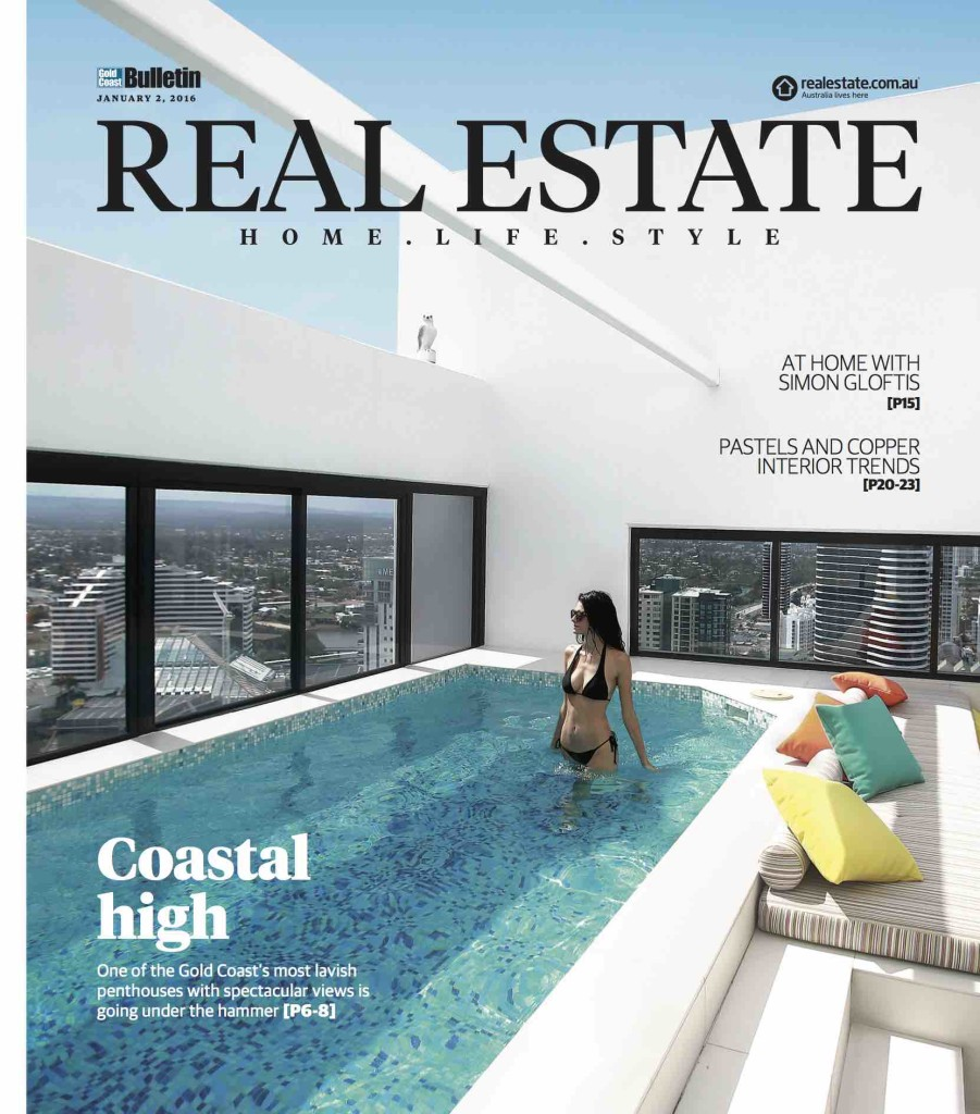 The Real Estate magazine comes with the Saturday edition of the Gold Coast Bulletin