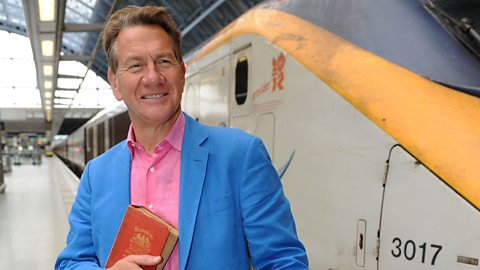 Michael Portillo about to board the Eurostar