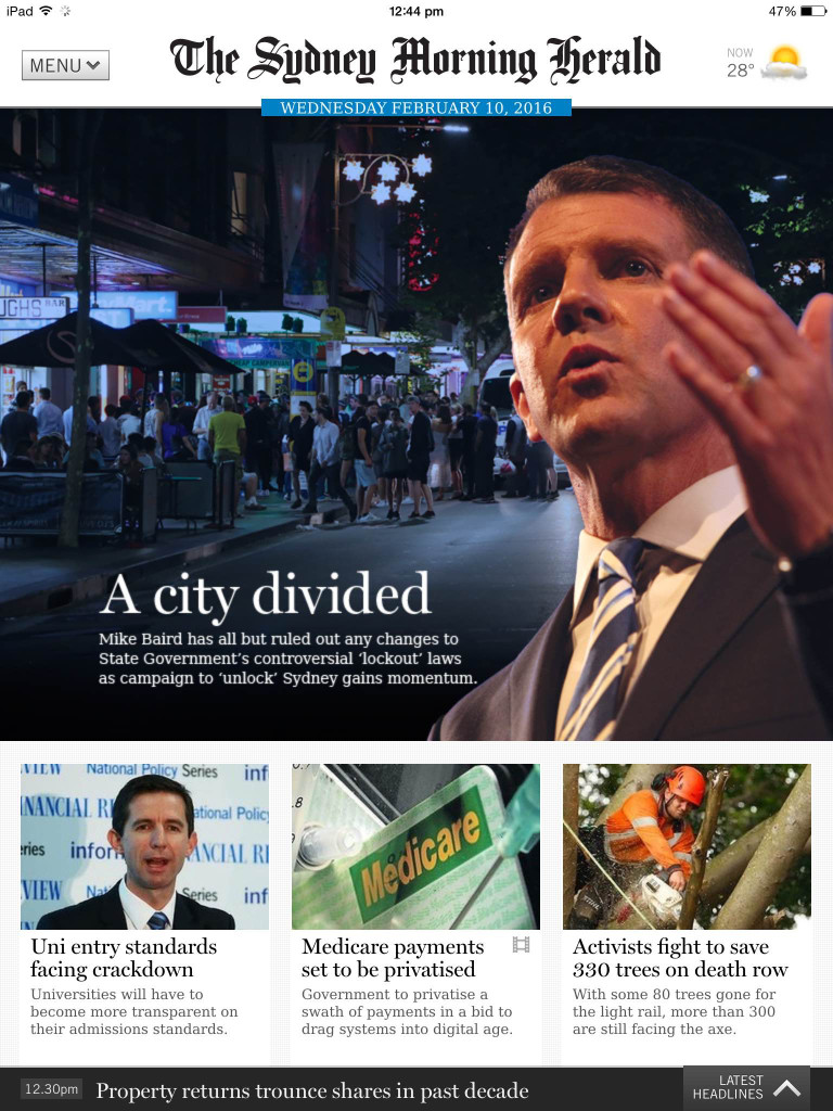 The Sydney Morning Herald on iPad