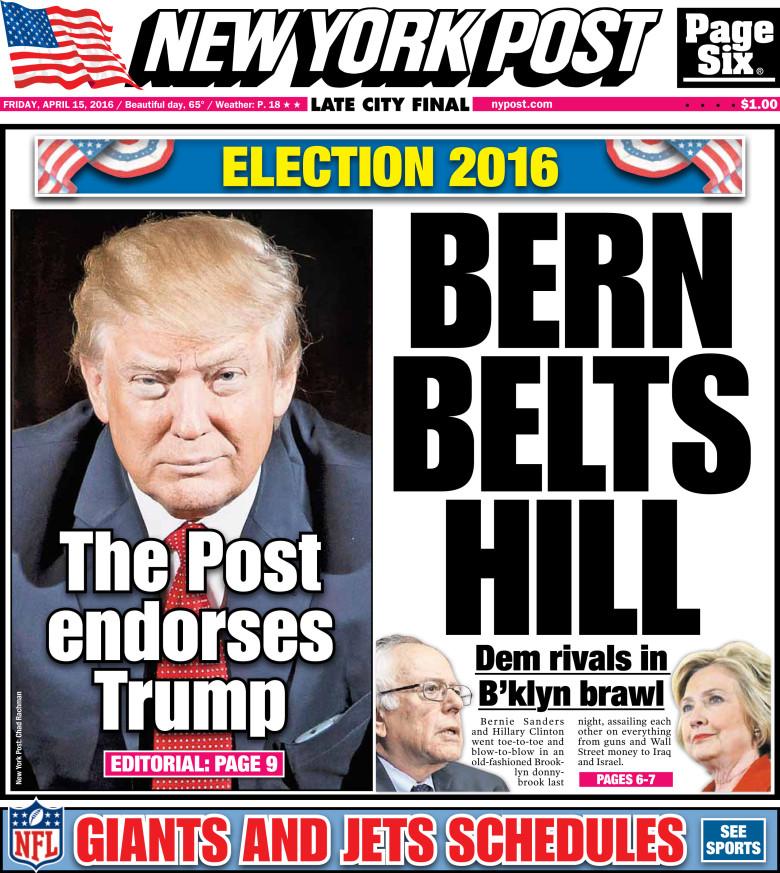 New York Post Trump