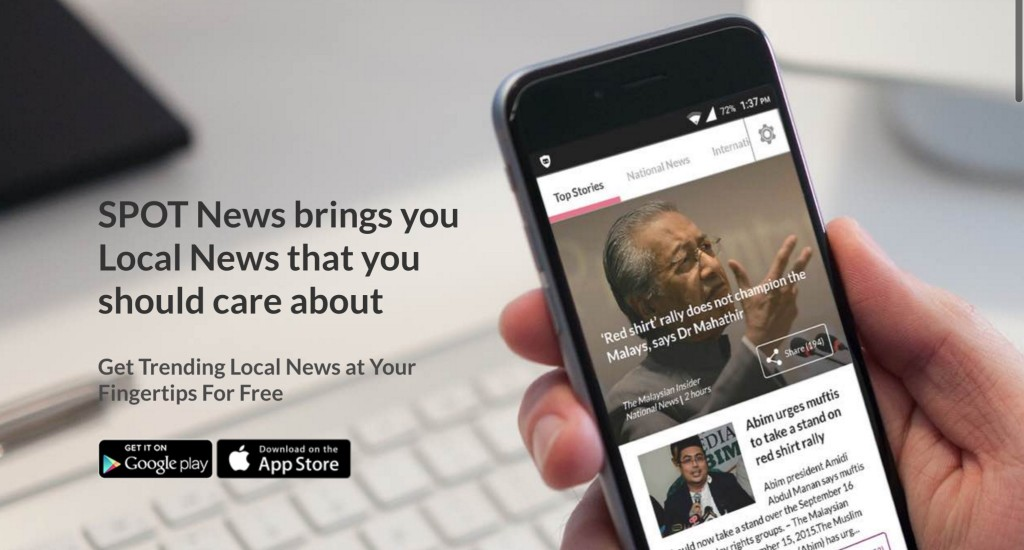 Spot News screengrab