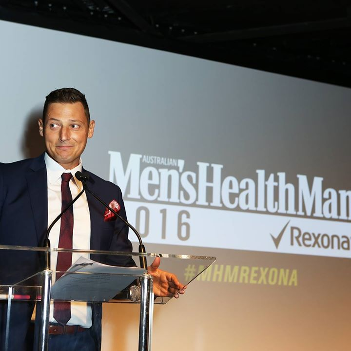 Merrick Watts at Men's Health Man of the Year awards 2016