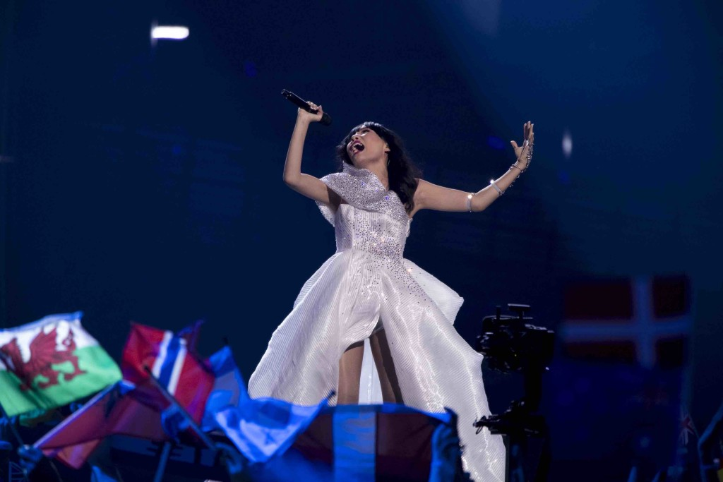 Dami Im performing at Eurovision semifinal