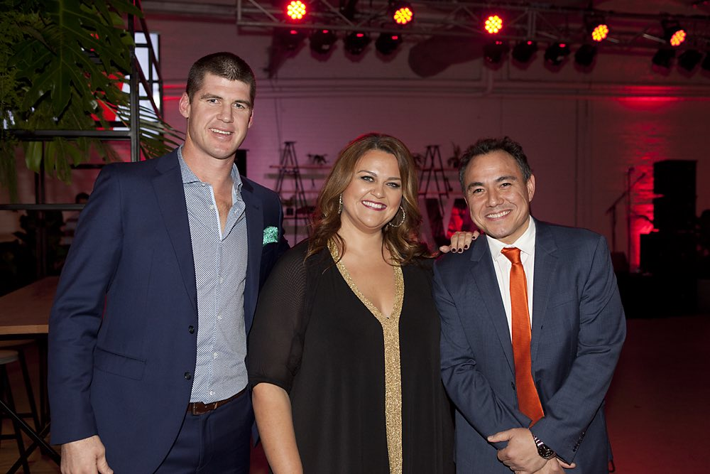Nova 100's Browny, Chrissie and Sam Pang