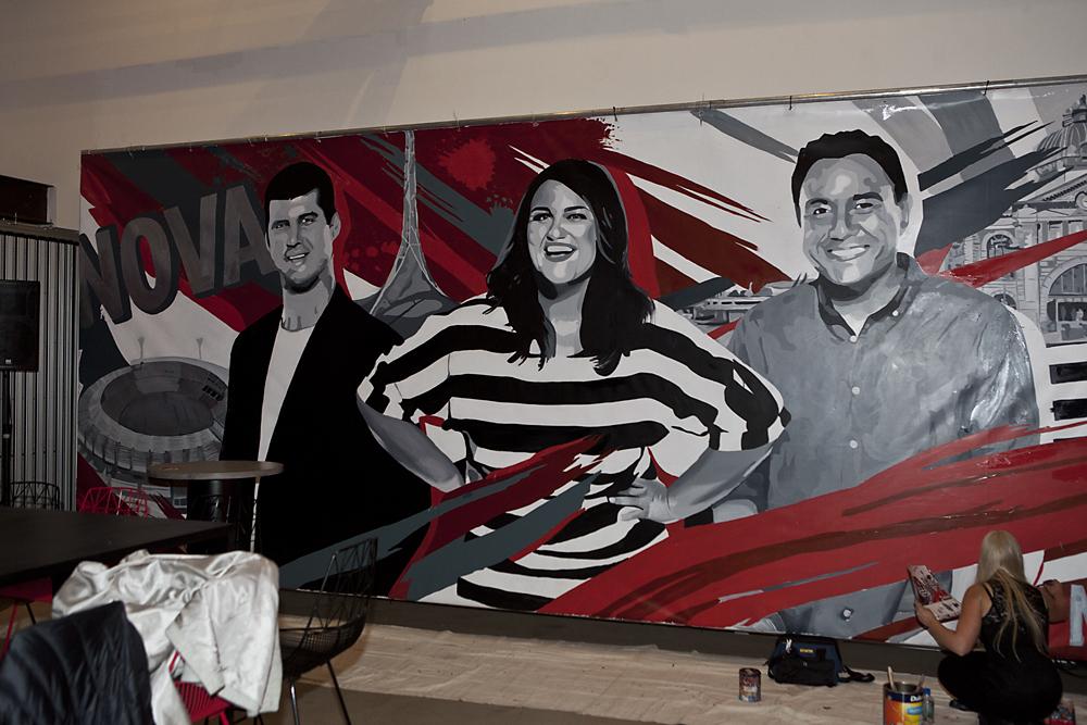 Nova's Chrissie, Sam & Browny mural 2