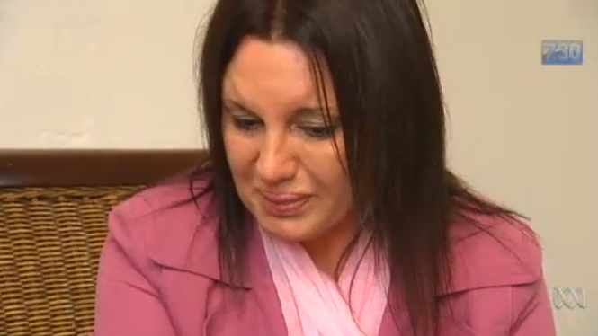 Jacqui Lambie tears up as she talks about her son's addiction