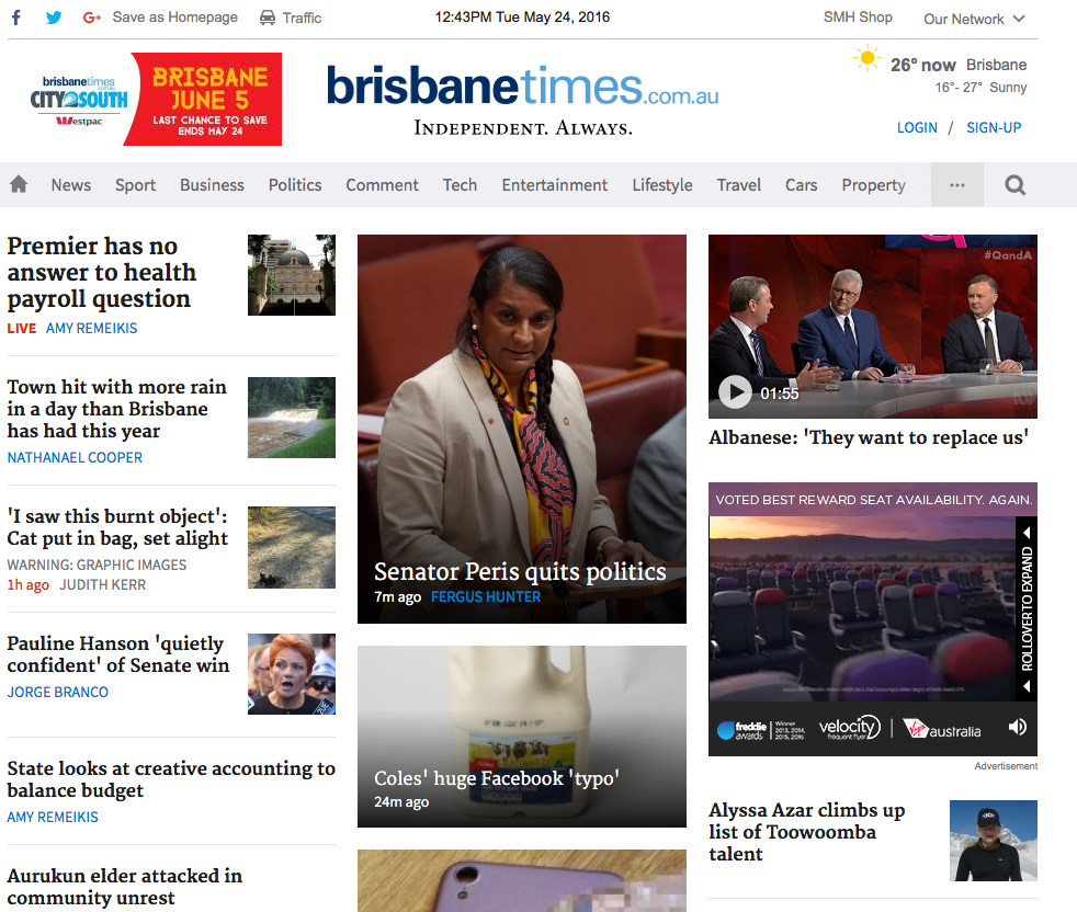 Brisbane Times website