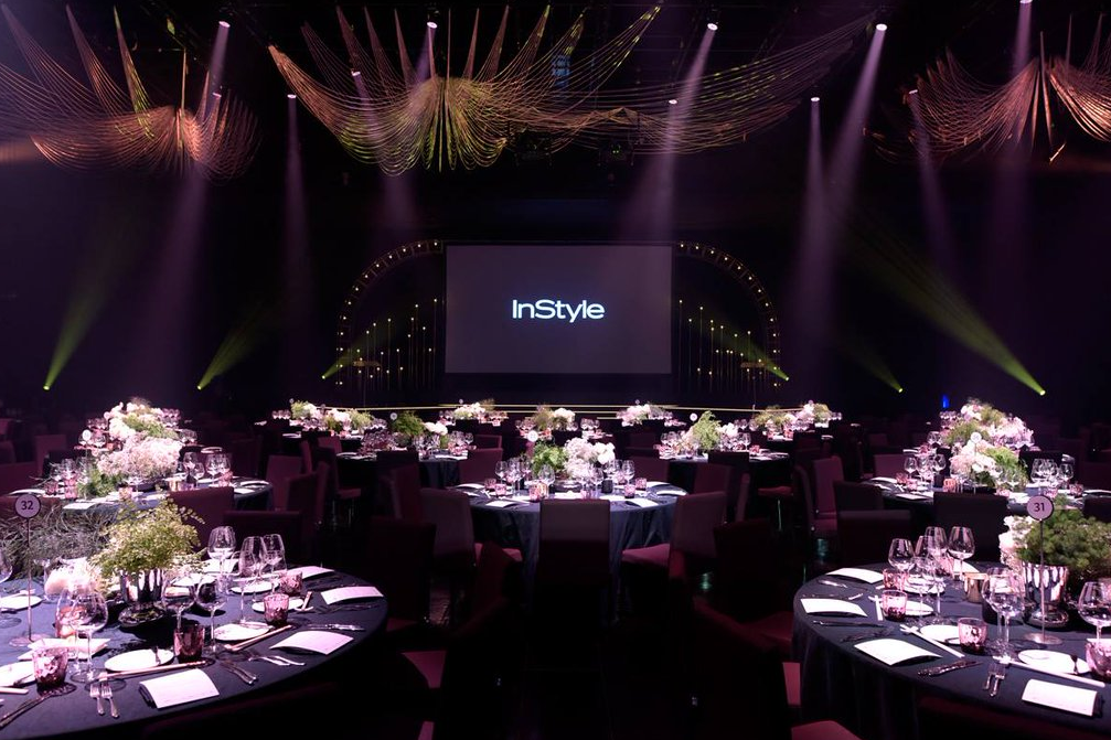 The room setup for the eighth annual InStyle Women of Style awards at The Star