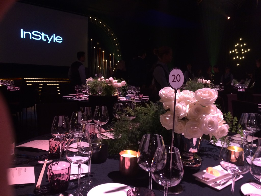 The table set up at InStyle Women of Style awards.