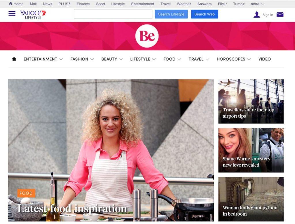 Be Homepage Desktop