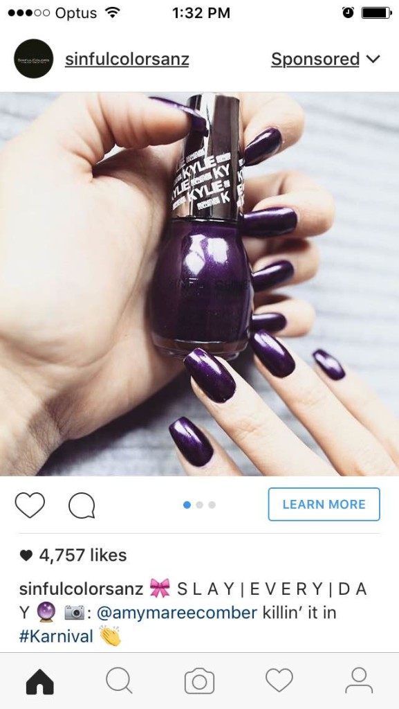 Advertising through Instagram