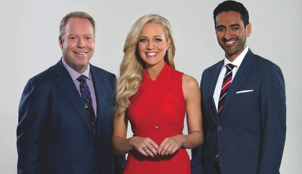 The Project Peter Helliar, Carrie Bickmore, Waleed Aly