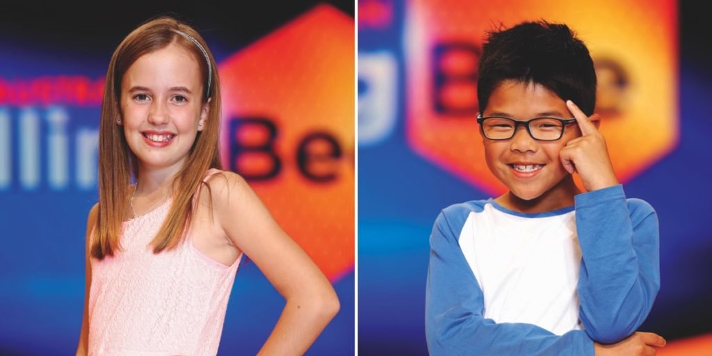 Contestants Ava, 10, and Zach, 8