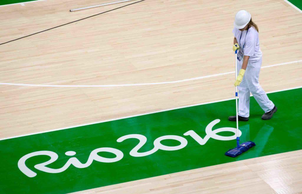 Ground staff prepare for Rio 2016 before 5 August PHOTO: Photo: Ian Jones/IOC
