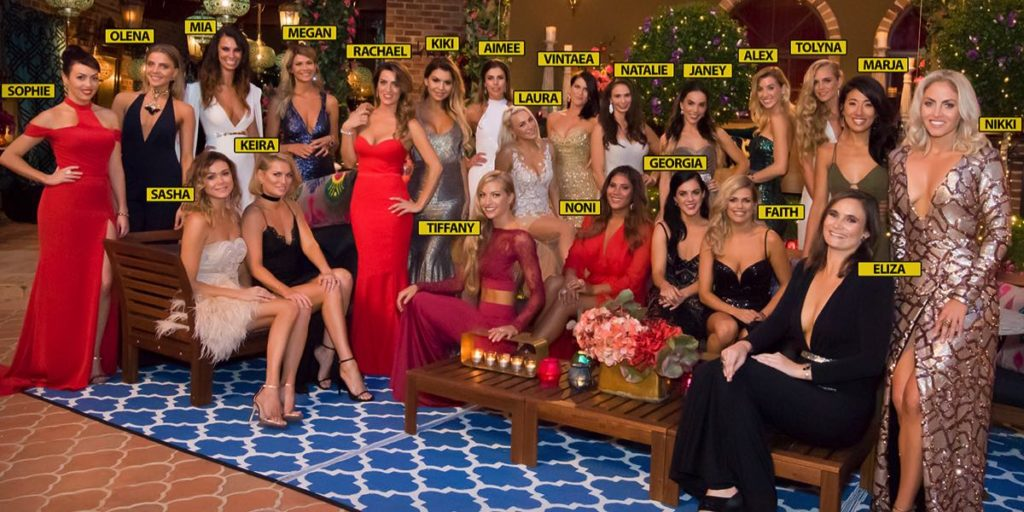 The bachelorettes who will be contesting to win Richie Strahan's heart on the fourth season pf The Bachelor.