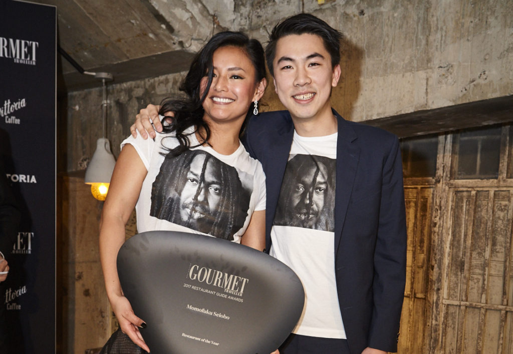 Restaurant of the Year winners Kylie Javier Ashton and Ambrose Chiang