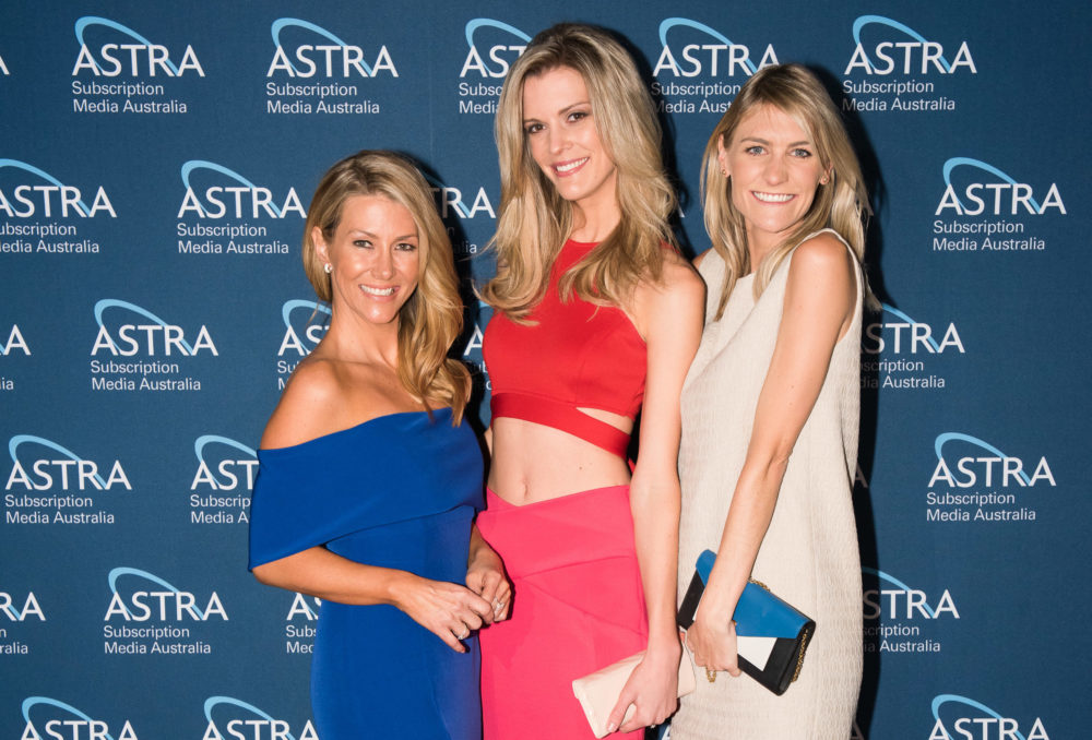 Sky News on the red carpet [L-R] Jaynie Seal, Abby Greenbank and Ingrid Willinge