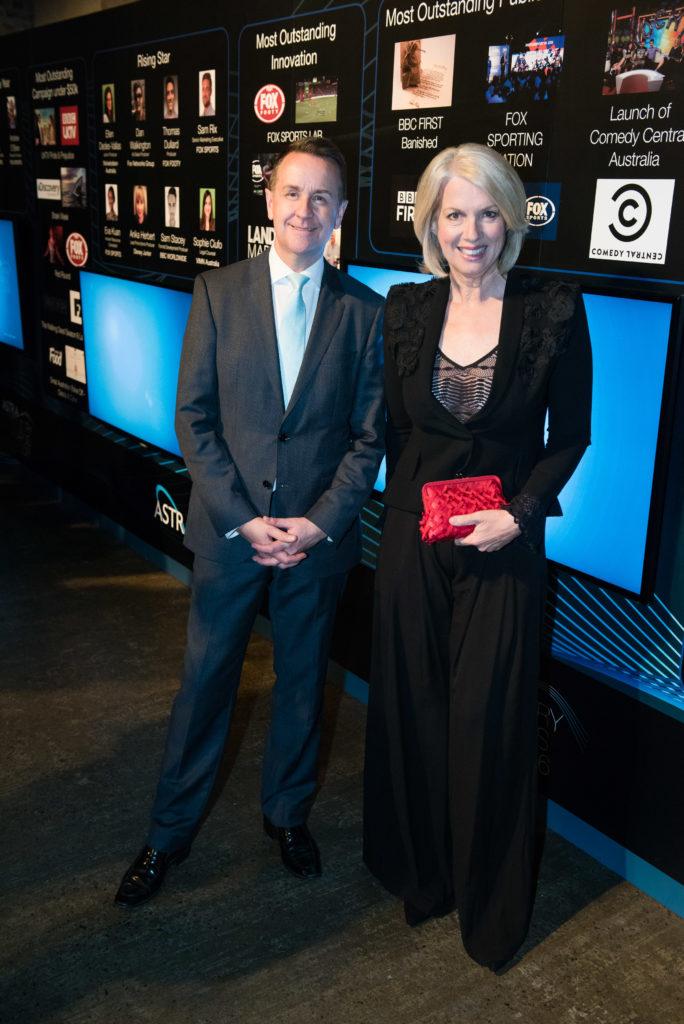 ASTRA boss Andrew Maiden wutg Sky News presenter Helen Dalley