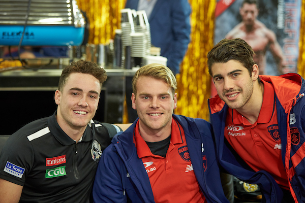 Players from Collingwood and Melbourne Footballers