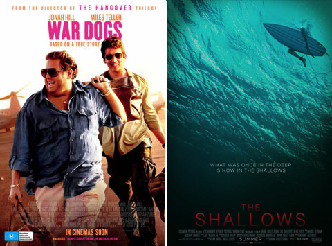 The Shallows and War Dogs were the top-performing new releases