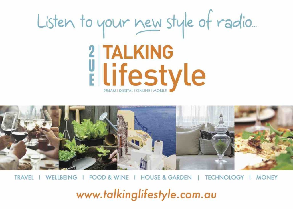 The advertisement used to promote the rebranding of Macquarie Media's 2UE Talking Lifestyle