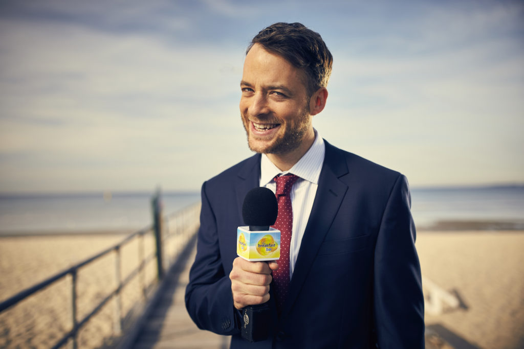 Husband of Zoe Foster Blake, Hamish, supports as a TV weatherman