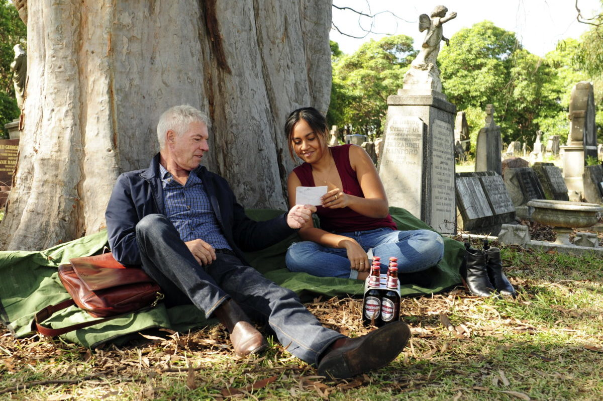 Jack Norton (Colin Friels) and Billie Carter (Jessica Mauboy)