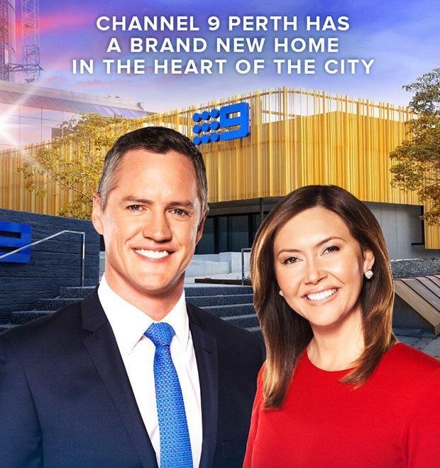 Nine News Perth presenters Tim McMillan and Emmy Kubainski