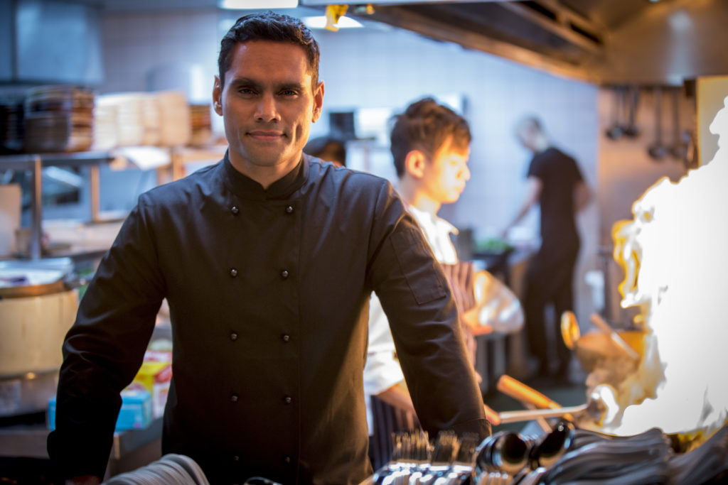 Rob Collins plays hunky TV chef 'Jack Winters'