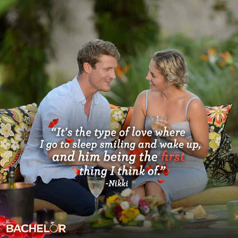 The Bachelor Richie Strahan with first runner-up Nikki
