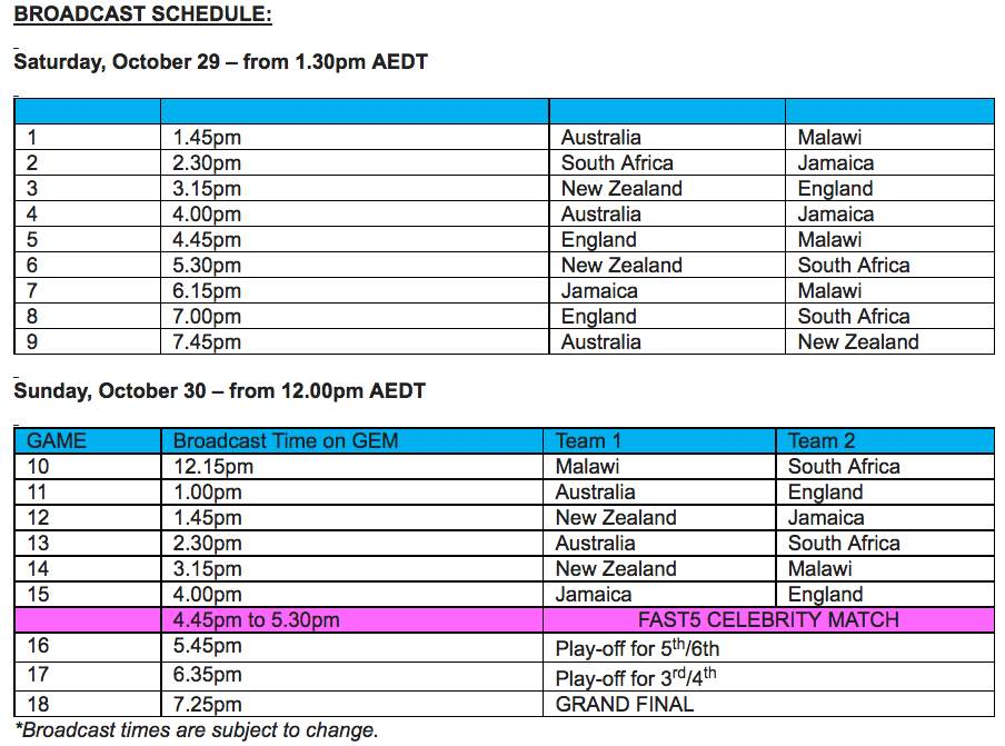 fast5-netball-world-series-schedule-on-nine