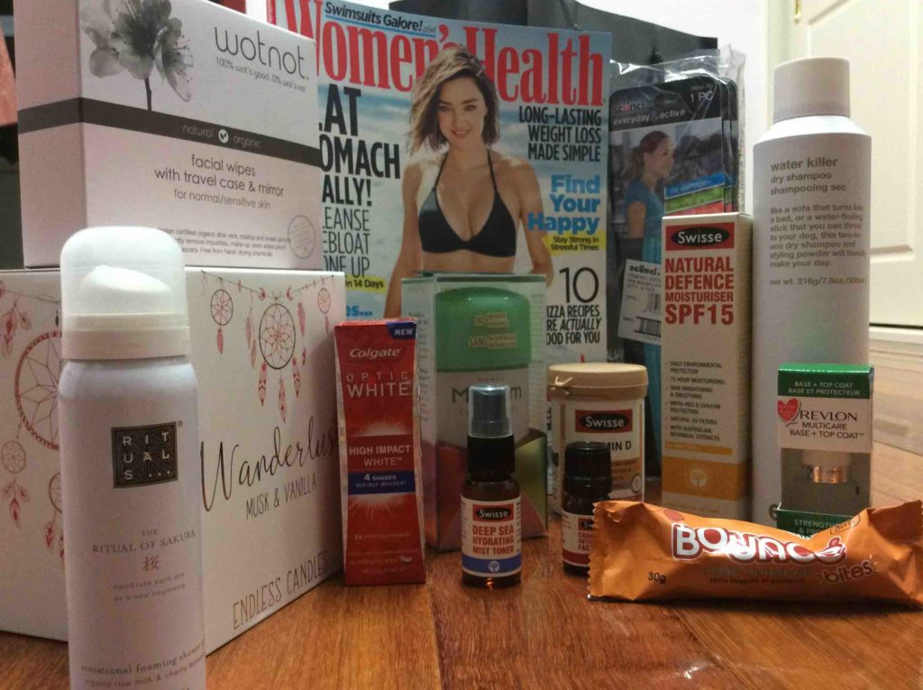 Women's Health I Support Women in Sport gift bag contents