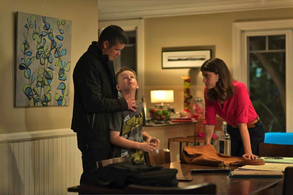 Matt Nable and Zoe Ventura in a family scene