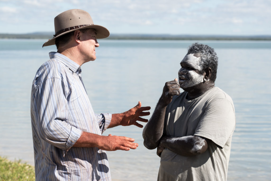 David Oldfield and Aboriginal elder Timmy 'Djawa' Burarrwanga