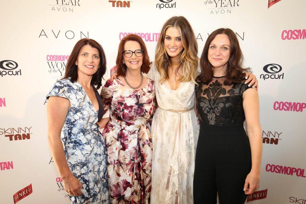 Bauer Media's fashion and beauty GM Fiona Legdin, Former Australian prime minister Fiona Legdin and Cosmopolitan editor Claire Askew
